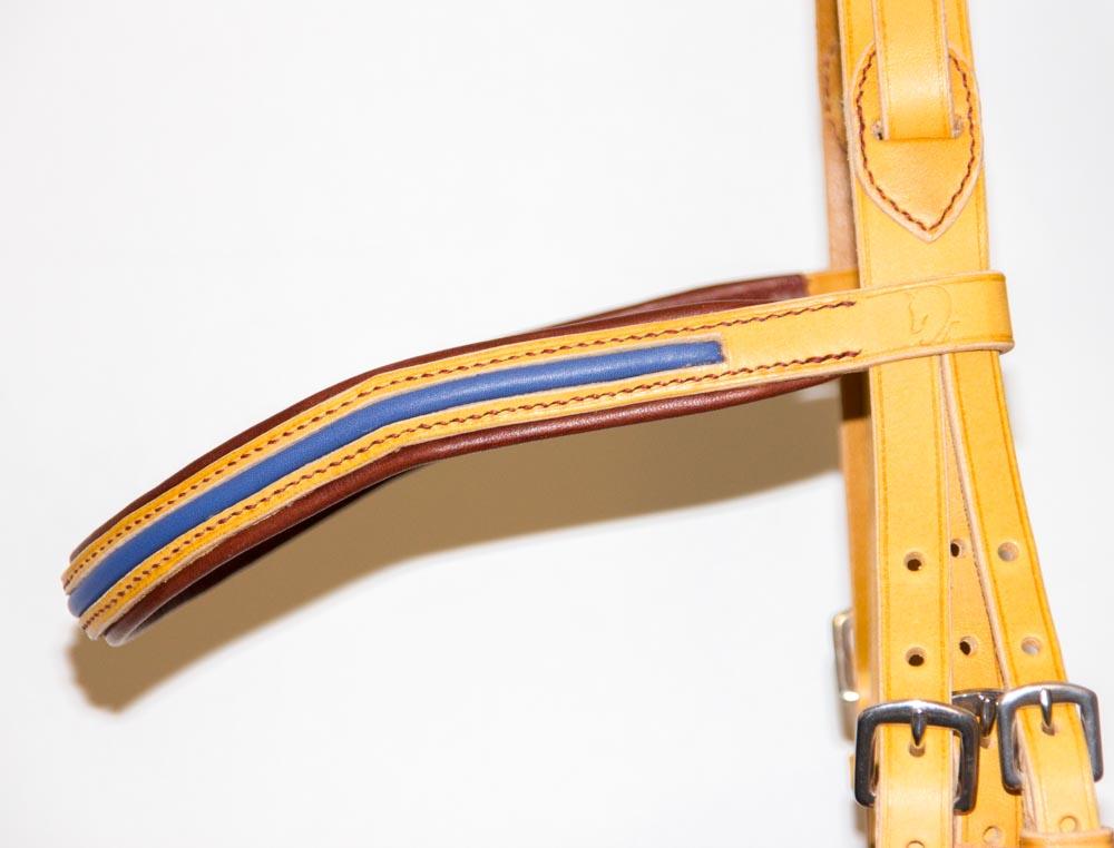 détail du frontal avec insert et doublure